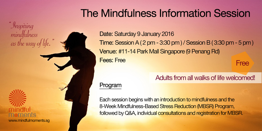 Free Mindfulness Information Session by Mindful Moments Singapore