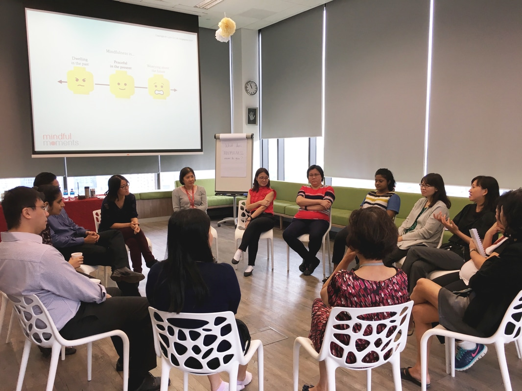 Mindfulness Training conducted at Attorney-General's Chambers by Erin Lee Mindful Moments