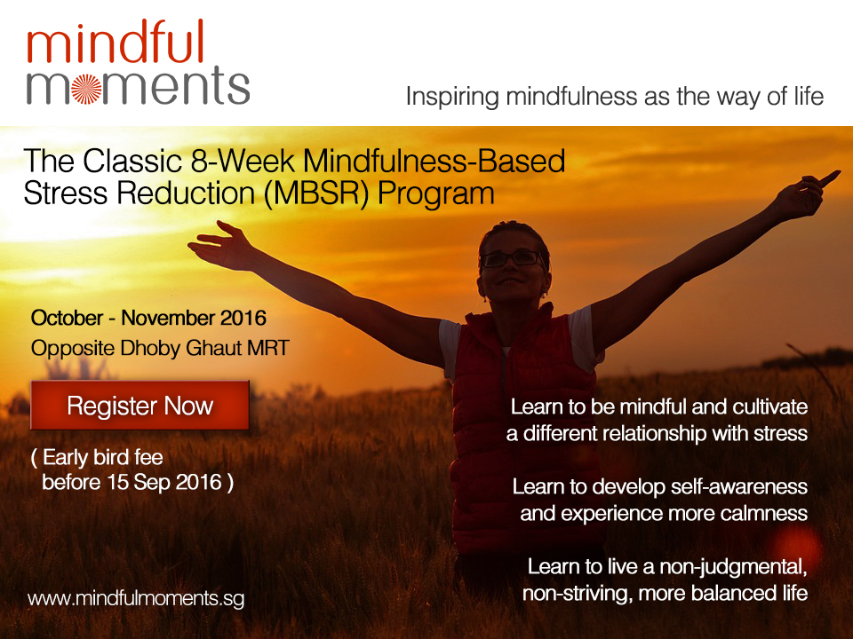 Mindfulness-Based Stress Reduction Program in October 2016 by Mindful Moments